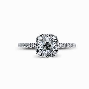 Cushion Cut Diamond Cluster Ring - 0.50ct